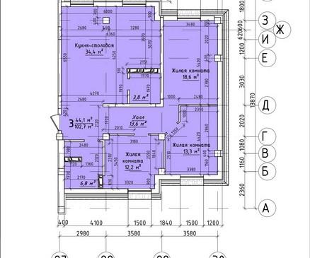 Трехкомнатная квартира 102,7 кв.м г.Тирасполь