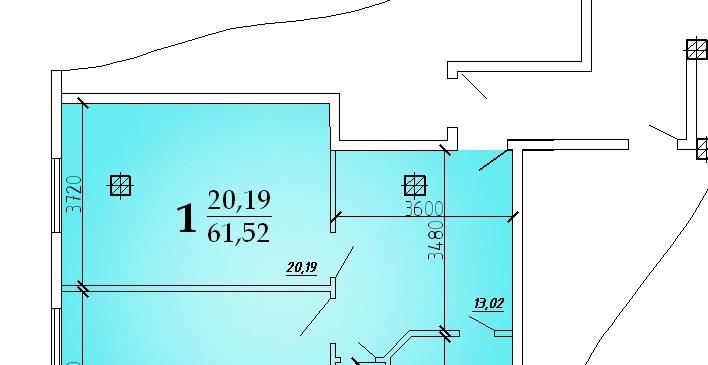Однокомнатная квартира 61,52 кв.м г.Дубоссары