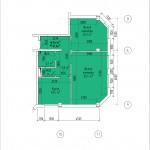 Двухкомнатная квартира 61,0 кв.м. г. Тирасполь